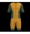 Tritraje Hombre Larga Distancia Mostaza/Verde