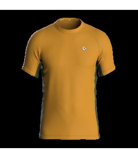Camiseta Slim fit Hombre Mostaza/Verde