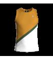 Camiseta Tirantes Hombre Mostaza/Blanco