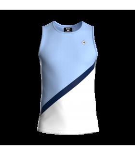 Camiseta Tirantes Hombre Azul/Blanco