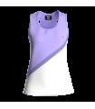 Camiseta Tirantes Mujer Morado/Blanco