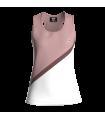 Camiseta Tirantes Mujer Rosa/Blanco